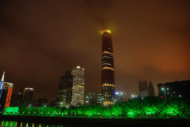 Guangzhou IFC at Night