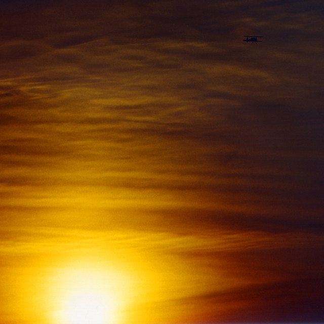 Braunschweig - Sunset with Stearman