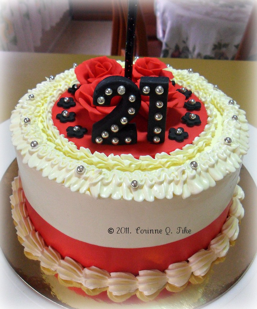Awe Inspiring Small 21St Birthday Cake 6 Red Velvet Cake For A 21St Bir Flickr Funny Birthday Cards Online Necthendildamsfinfo