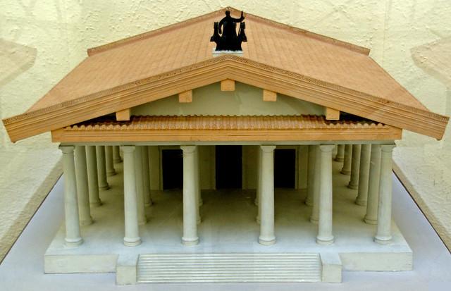 Maqueta del Temple Capitolí arcaic, Museo della Civiltà Romana, Roma