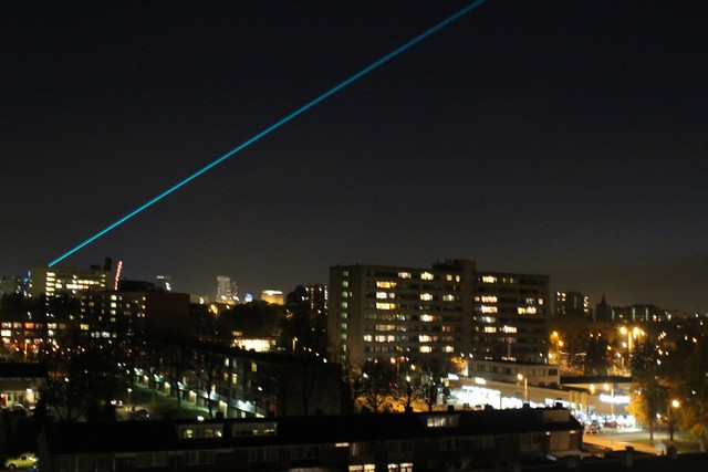 Laserstraal Glow 2011 @ Eindhoven