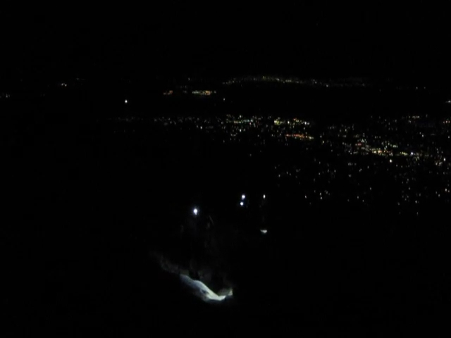 021 Skyline Trail 2500ft - video - Hiker Headlamps above Palm Springs