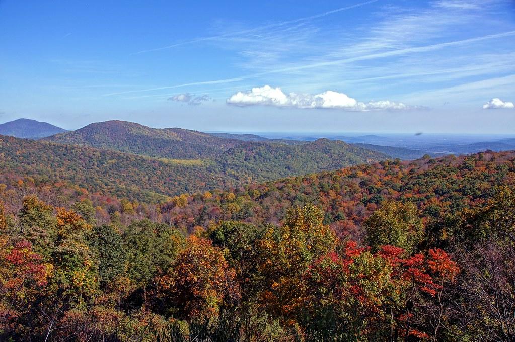 Fall color on Skyland Drive, Shenandoah National Park, Virginia - 1