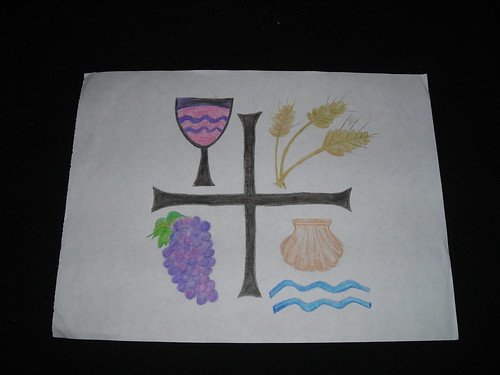 Wine, Wheat, Sea, Grapes symbol. Jail Art