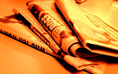 Newspaper fire orange | by NS Newsflash