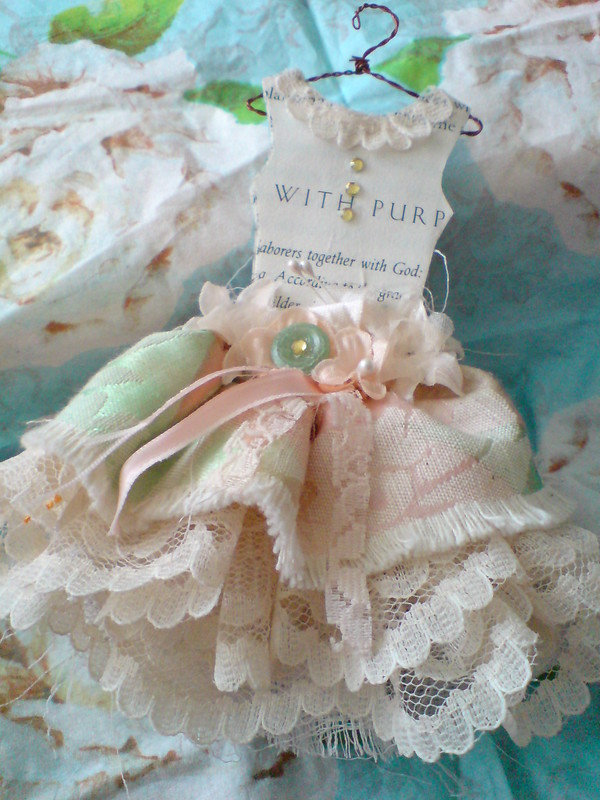 Mini Couture Paper and  Fabric Dress
