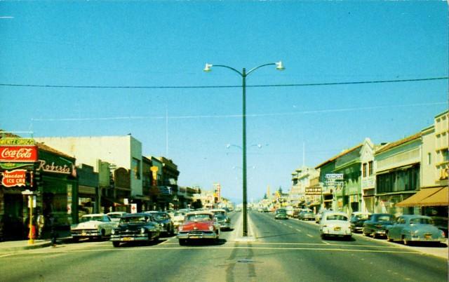 Gilroy, California, Monterey Street, 1950s