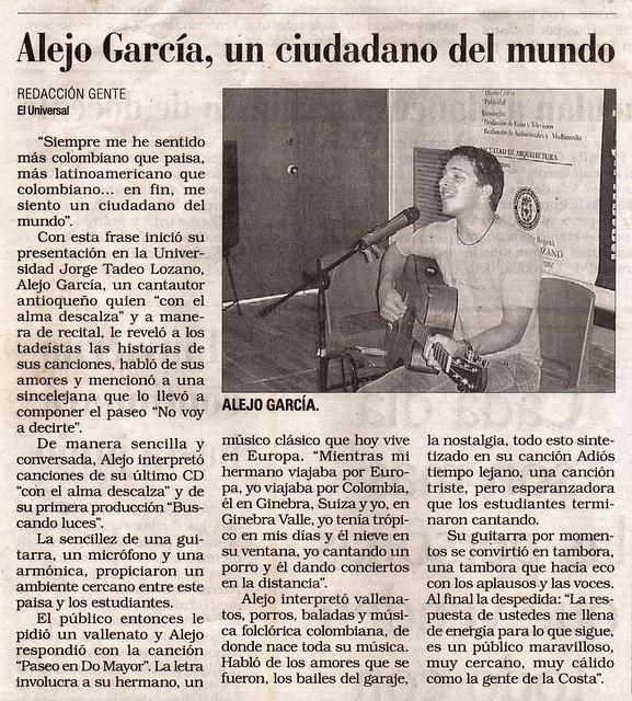 Periódico El Universal Cartagena Mayo 2007
