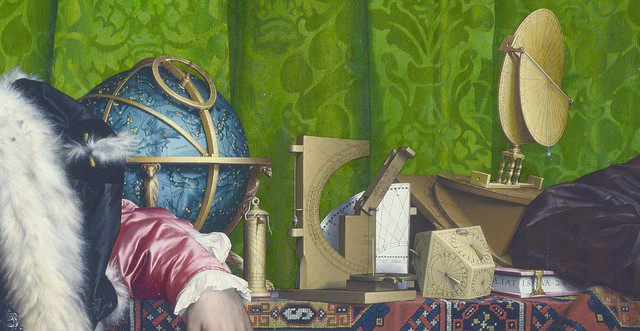 Hans Holbein dJ - Ambassadors, detail astronomical instruments