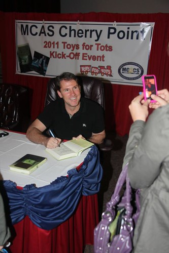 Best-selling author supports Cherry Point, Toys for Tots with book-signing event | by MCAS Cherry Point