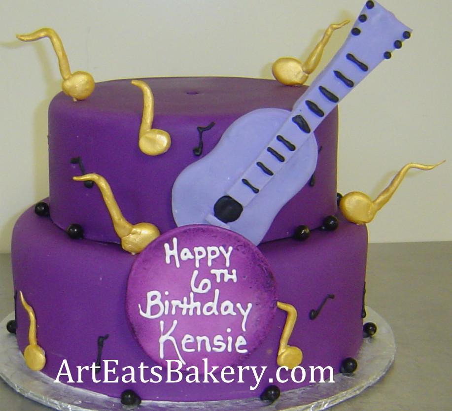 Pleasing Two Tier Purple Fondant Girls Justin Bieber Theme Birthday Cake Funny Birthday Cards Online Elaedamsfinfo