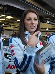The Beautiful Model Lucy Pinder as a Grid Girl with Aon at The Dunlop MSA British Touring Car Championship Sunday October 16th 2011.