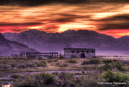 sunset abandoned utah nikon ruins railway greatsaltlake d200 metaphor trolly distant saltair 2011 explored ovfne wyominggeezer geezerphotography