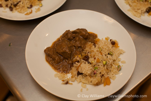 "Lamb ""Vin""daloo (by guest chef Raquel Pelzel) and Persian Jeweled Rice 