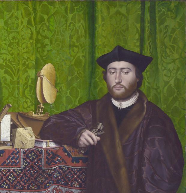 Hans Holbein dJ - The Ambassadors, detail George de Selve (1533)