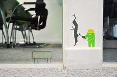 Internal office glass graphic