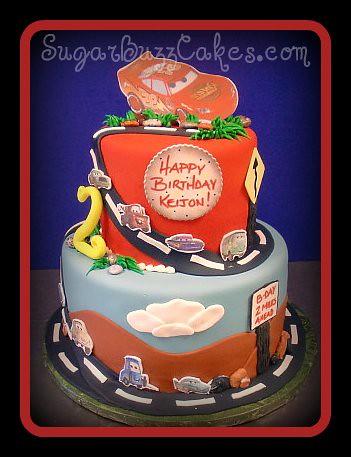 Marvelous Cars Themed Birthday Cake A Photo On Flickriver Personalised Birthday Cards Xaembasilily Jamesorg