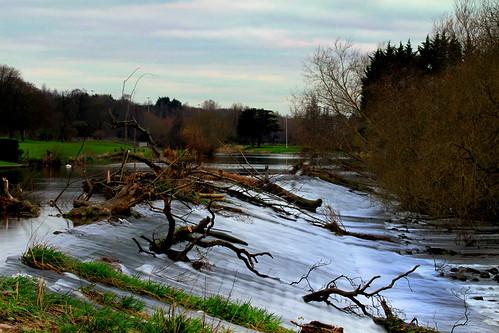 river spring liffey islandbridgedublinireland