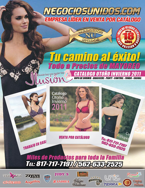 0174ea3414 ... Venta por Catalogo Ilusión Ofrece Ropa Bikini Fajas Reductoras en  Estados Unidos Negocios Trabajo en Casa