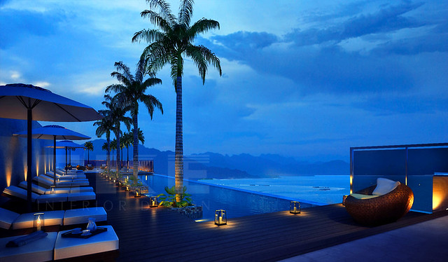 Roof Top Infinity pool - Summit Apartment