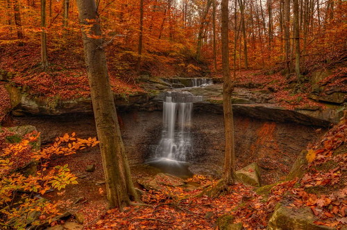 longexposure autumn ohio color fall nature leaves landscape waterfall nikon cascade hdr beech cuyahogavalleynationalpark cvnp photomatix bluehenfalls neutraldensityfilter tonemapped ohiowaterfall nikond90