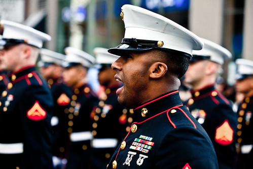 Marines march in 2011 NYC Veterans Day Parade | by NYCMarines