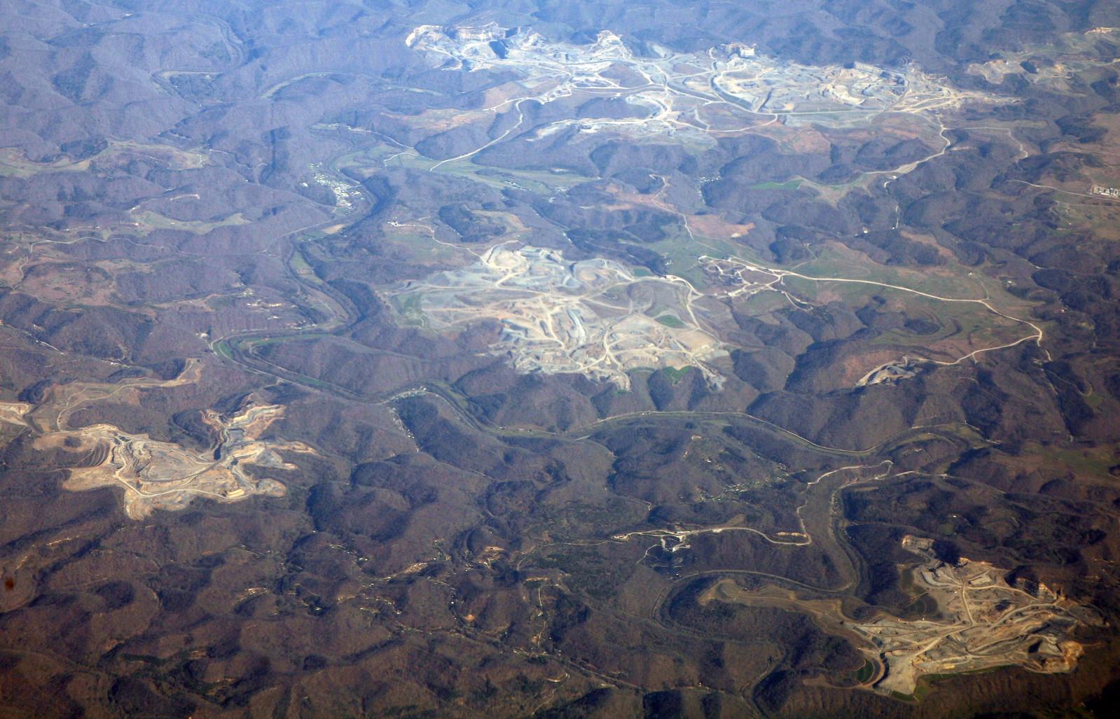 photo of mountaintop mining in Kentucky