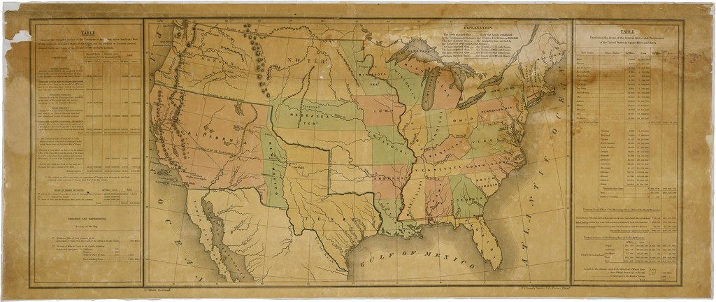 Map of the United States Including Western Territories, 12 ...
