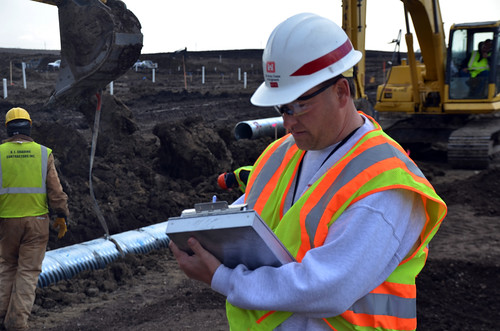 USACE quality assurance representative monitors construction | by USACE HQ