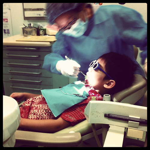 First dental visit | by pink cloth microphone