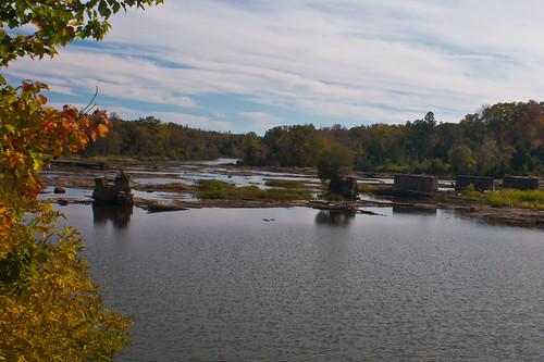 autumn reflection fall nature water river georgia rocks fallcolors pikecounty flintriver ruralgeorgia meriwethercounty thesussman sonyalphadslra550 meriwetherpikescenicbyway