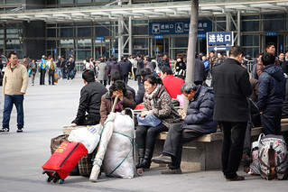 Shanghai Railway Station - Migrant workers leaving town or going home | by China Supertrends