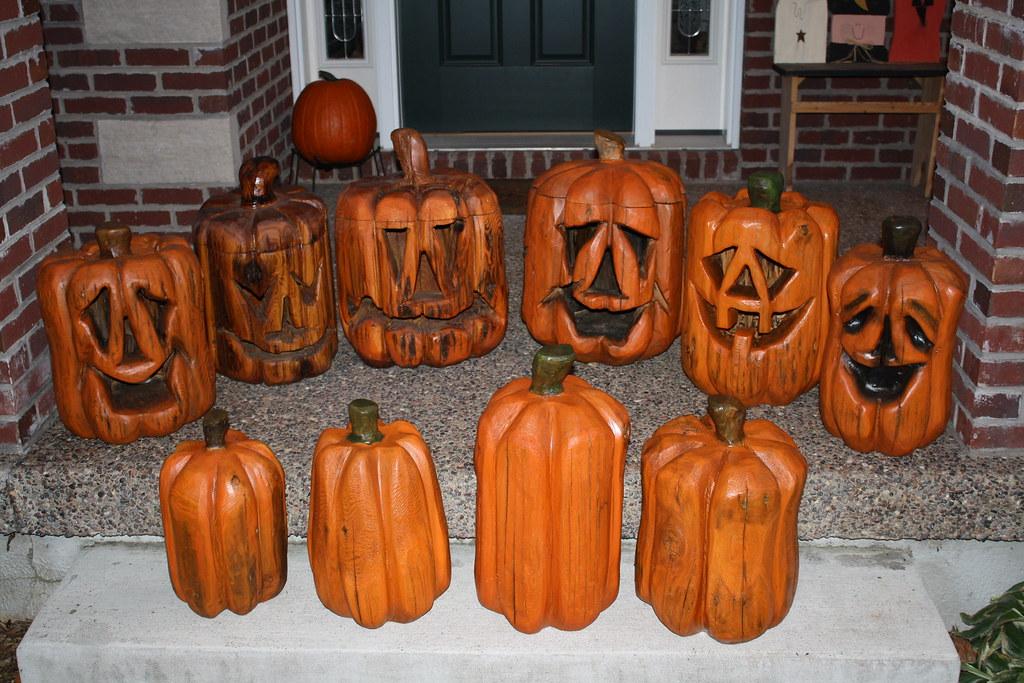 Chainsaw carved pumpkins dave schaeffer dave schaeffer flickr