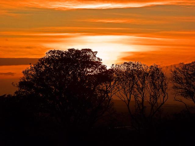 Sunset On Cleadon Hills
