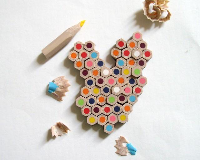 polymer clay pencil brooch 807