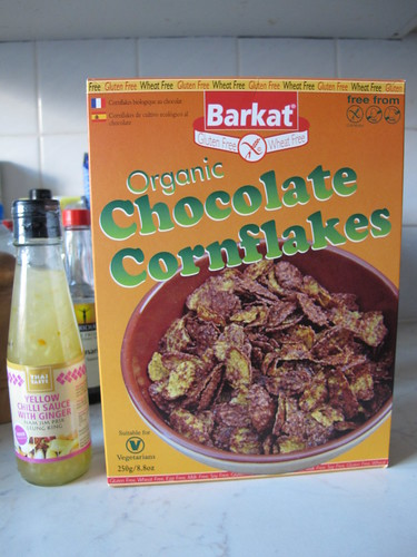 Woo chocolate cornflakes & chilli ginger sauce!