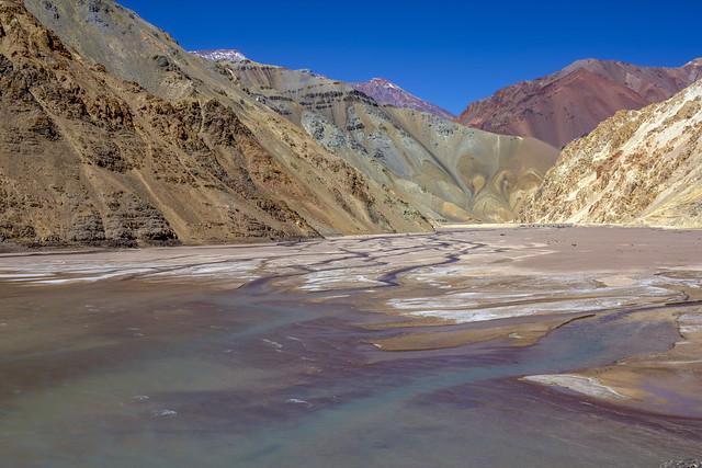 Braided stream, Rio Turbio, High Andes, Coquimbo Region, Chile