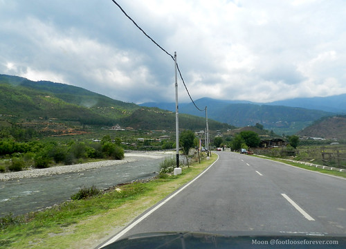 On the roads in Paro | by moon@footlooseforever.com