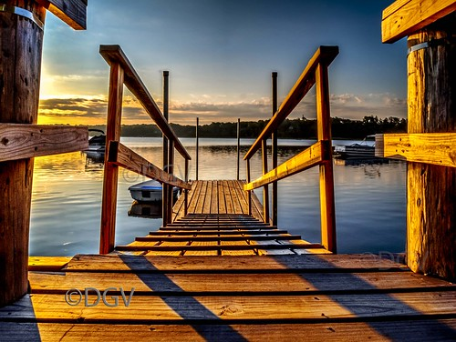 wood blue summer water sunrise harbor boat dock orleans capecod massachusetts newengland