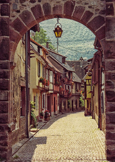Alsatian Street, Kaysersberg, France