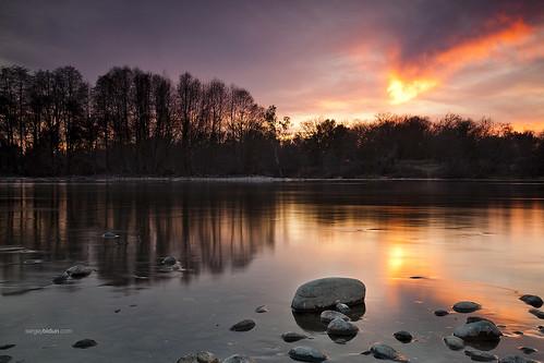 california sunset sky sun reflection tree nature water clouds forest river landscape fire mirror rocks sacramento fest sergey americanriver bidun sergeybidun