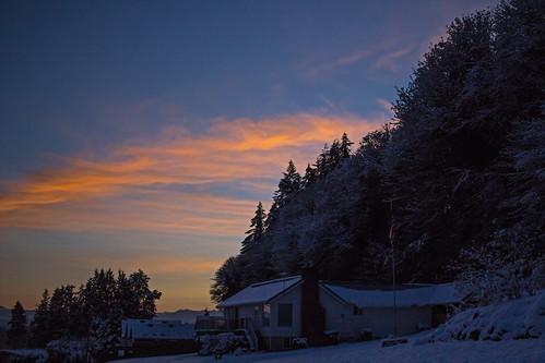 sunrise dawn winter snow nature oregon rainieroregon