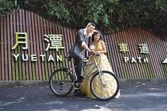 Els vam deixar la bici per la foto de casament...