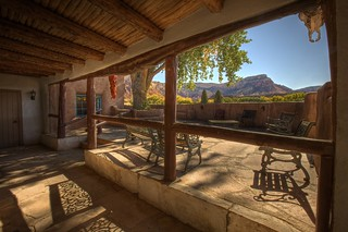 Ghost House Patio with Skull and Chili's at Ghost Ranch | by Princess Stand in the Rain