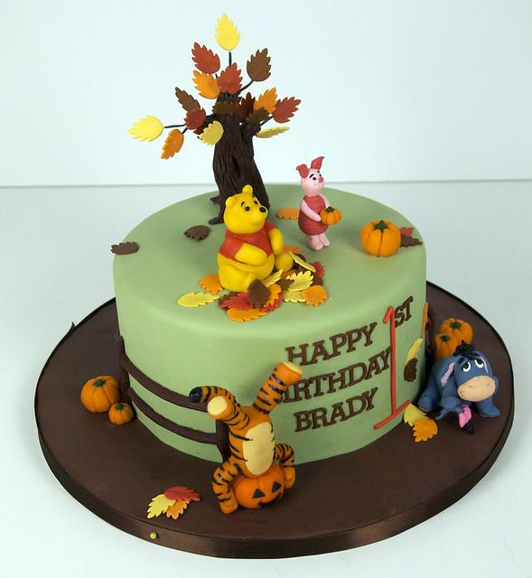 fall winnie the pooh birthday cake toronto