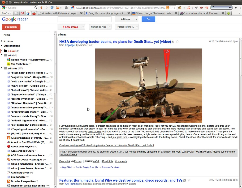 Google Reader November 1 Update + Greasemonkey