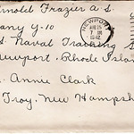 Frazier Henry Arnold, Aug 24, 1942, Navy - envelope