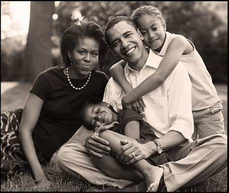 President Obama with his Family | by U.S. Embassy Jakarta, Indonesia