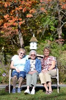 My aunt, my grandma, and my mom