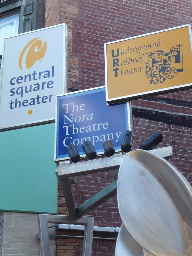 Central Square - Central Square theater signs, Cambridge, MA